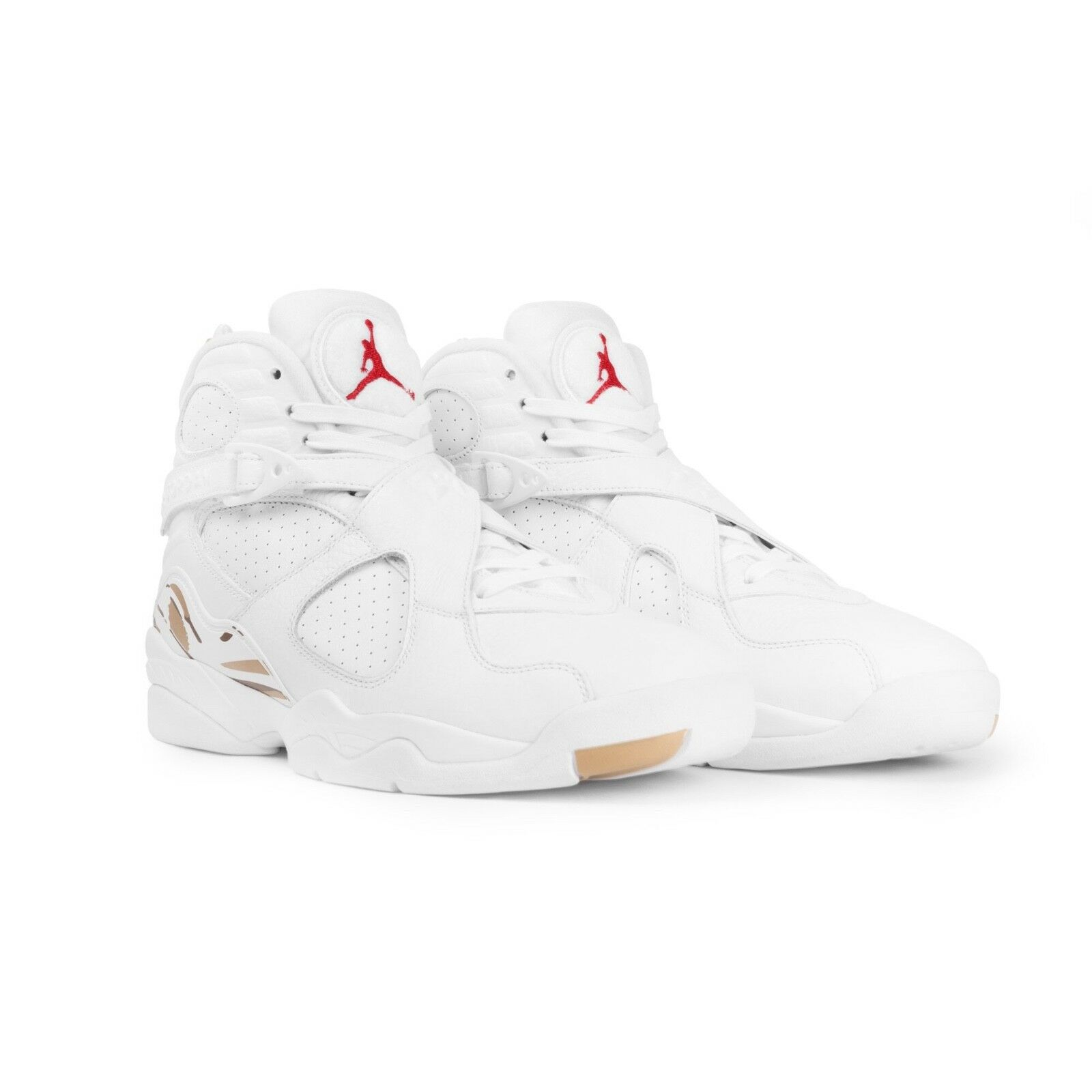 BRAND NEW October's Very Own OVO Air Jordan Retro 8's White gold Size 11.5 Drake