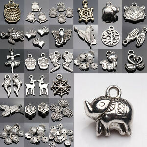 Lots-Top-Tibetan-Silver-Charms-Beads-Findings-Jewellery-Making-Mix-Crafts-DIY