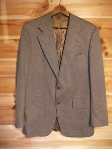 Vintage Chester Barrie For Austin Reed Tweed Blazer Jacket 40l Brown Ebay