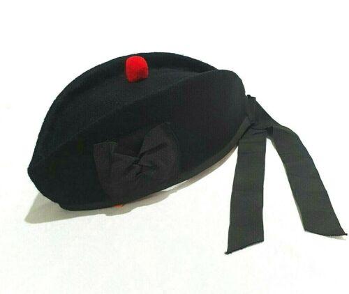 Glengarry Hat Scottish Wool Piper Bonnet Triple Diced Highland Scots Cap