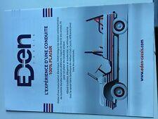 Catalogue brochure Katalog  CITROEN MEHARI EDEN Année 2016 2 PAGES