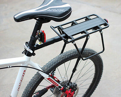 V Disc Brake Bicycle Bike Alloy Rear Rack Carrier Luggage Protect Pannier 60kg