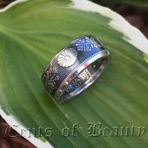 NEW-Coin-Rings-Handmade-from-1906-1917-Japanese-50-Sen-80-Silver-Sizes-5-11