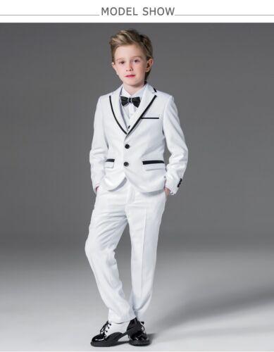 Whit Kid Suit Boy/'s Tuxedos Prom Sutis Flower Children Dress Suits Formal Blazer