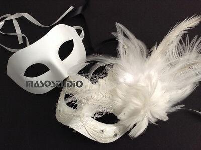 50 shades of Grey Couple Masquerade Mask Dance Wedding Bachelor Bridal Party