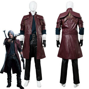 Details About Devil May Cry V Dmc5 Dante Aged Outfit Cosplay Costume Coat Jacket Suit Shirt