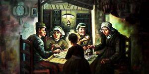 Vincent Van Gogh-la patata comedores 60x120 cm reproducción pintura ...