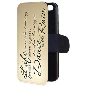 Storm-to-pass-Dance-in-the-Rain-Famous-Quote-Flip-Wallet-Mobile-Phone-Case-Cover
