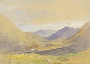 1882 Watercolour - In the Valley