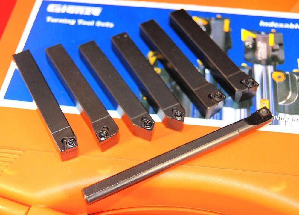 Set of 10 mm CCMT Glanze Mini Indexable Lathe Turning Tools 777103