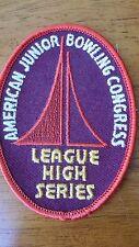 Vintage AJBC Bowling Congress League High Series Patch