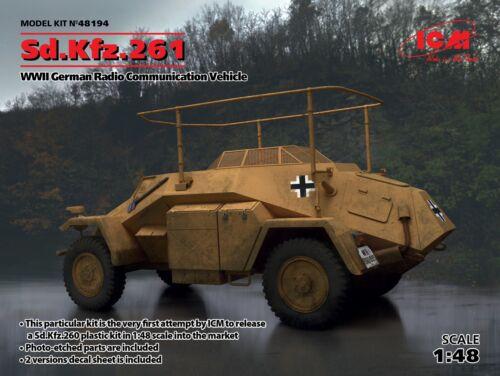 ICM 1//48 Sd.Kfz.261 WWII German Radio Communication Vehicle # 48194