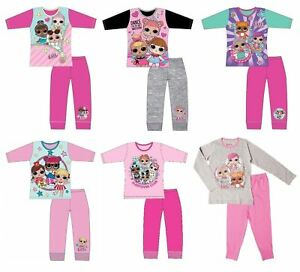 0869bf840 Details about Girls LOL Surprise Pjs Kids Nightwear Pyjamas Set Character  Gift