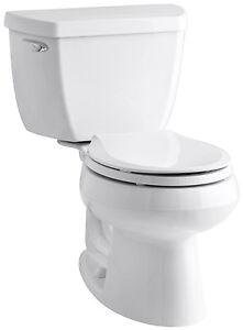 Kohler K 3577 0 Wellworth Toilet White 2 Pc Round 1 28 Gpf