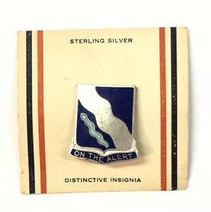 "Inventive Schöner Sterlingsilber .925 Blaue Emaille Am Alert "" Brosche Fine Pins & Brooches Jewelry & Watches"