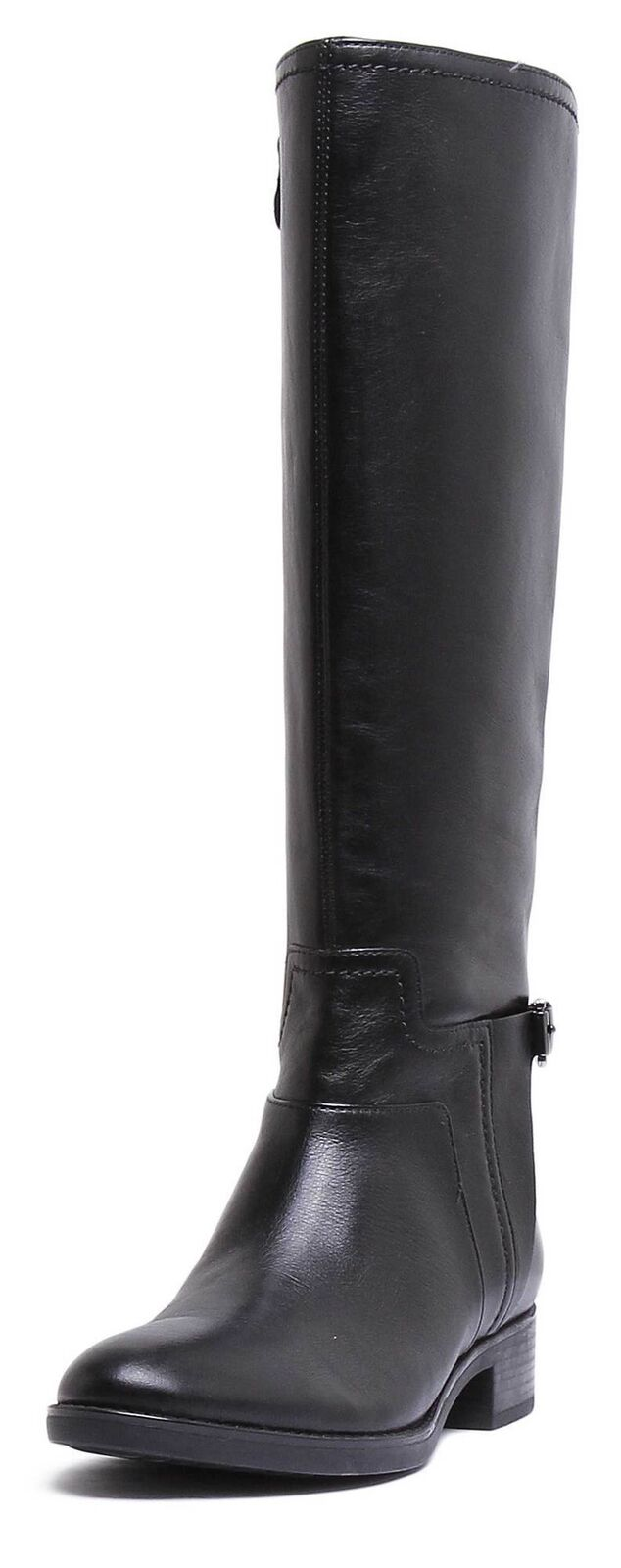 Geox Felicity Womens Leather Matt Black Long Long Long Riding Boots UK size 3 - 8 d48b0b