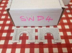 2x Single Tunnel -z Scale Gauge-painted And Weathered- Pale Concrete Type Excellent Effet De Coussin