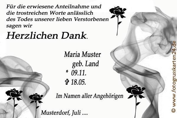 Trauerkarten Dankeskarten Trauer Beerdigung Danksagung 10 x Foto KuGrüns T17   | Mode-Muster  | Sorgfältig ausgewählte Materialien