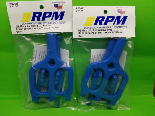 2 PACK RPM 80465 Front Rear Blue Suspension Arms Traxxas 2.5 3.3 T-maxx  Emaxx
