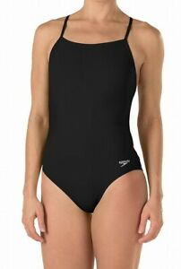 Speedo-Womens-Swimwear-Black-Size-30-Endurance-Lite-Turnz-One-Swimsuti-69-840