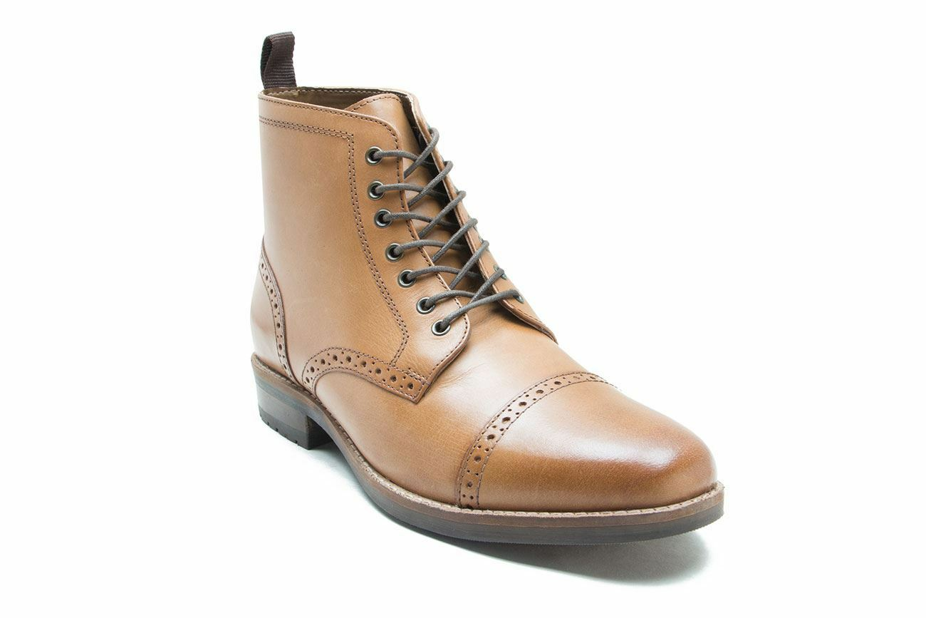 Red Tape Leather Hombre botas Benham Lace Up Up Up Ankle Tan Marrón 4eaf5e