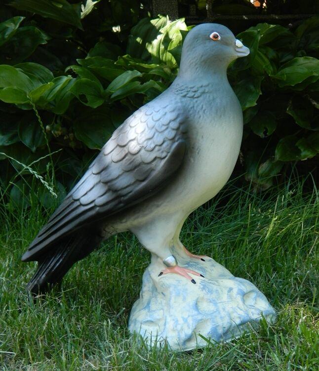 Dekofigur Deko Figur Tierfigur Gartenfigur Taube stehend H 29 cm aus Kunstharz