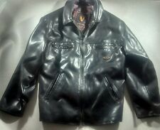 V Made in Italy™ Men's Black Leather Jacket ***25w 31l XL*** soft leather