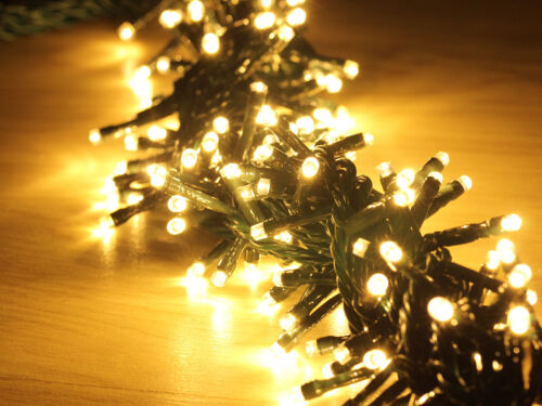 Profi Weihnachten superhell LED Cluster LICHTKETTE 6m 150leds,WARMWEISS IP65