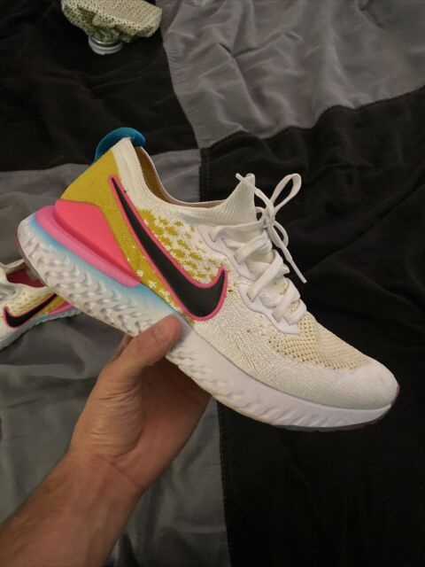 Nike Epic React Flyknit 2 White Black Pink Blast CI7583-100 Men's Shoes Size 11