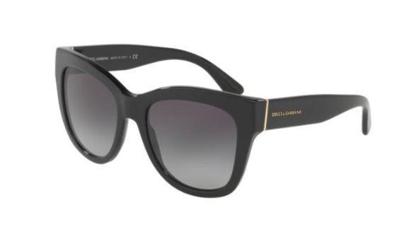 893381417b3 Dolce   Gabbana DG 4270 501 8g Black Frame Grey Shaded Lens Sunglasses 55  for sale online