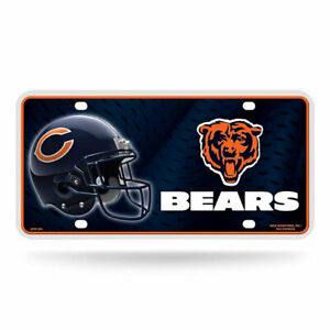 Rico-Industries-Chicago-Bears-NFL-Metal-License-Plate-Tag