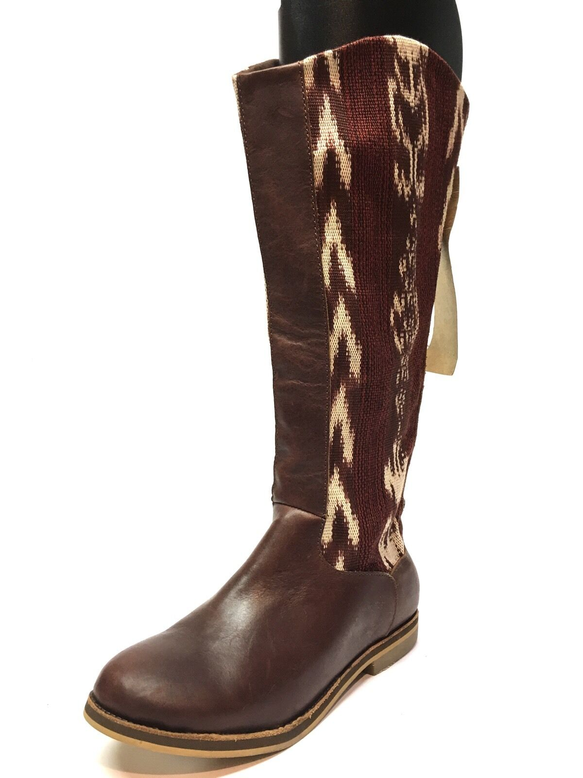 New Reef Santa Marta Embroidered Tribal Tall Riding Boots Women's Size 6 M