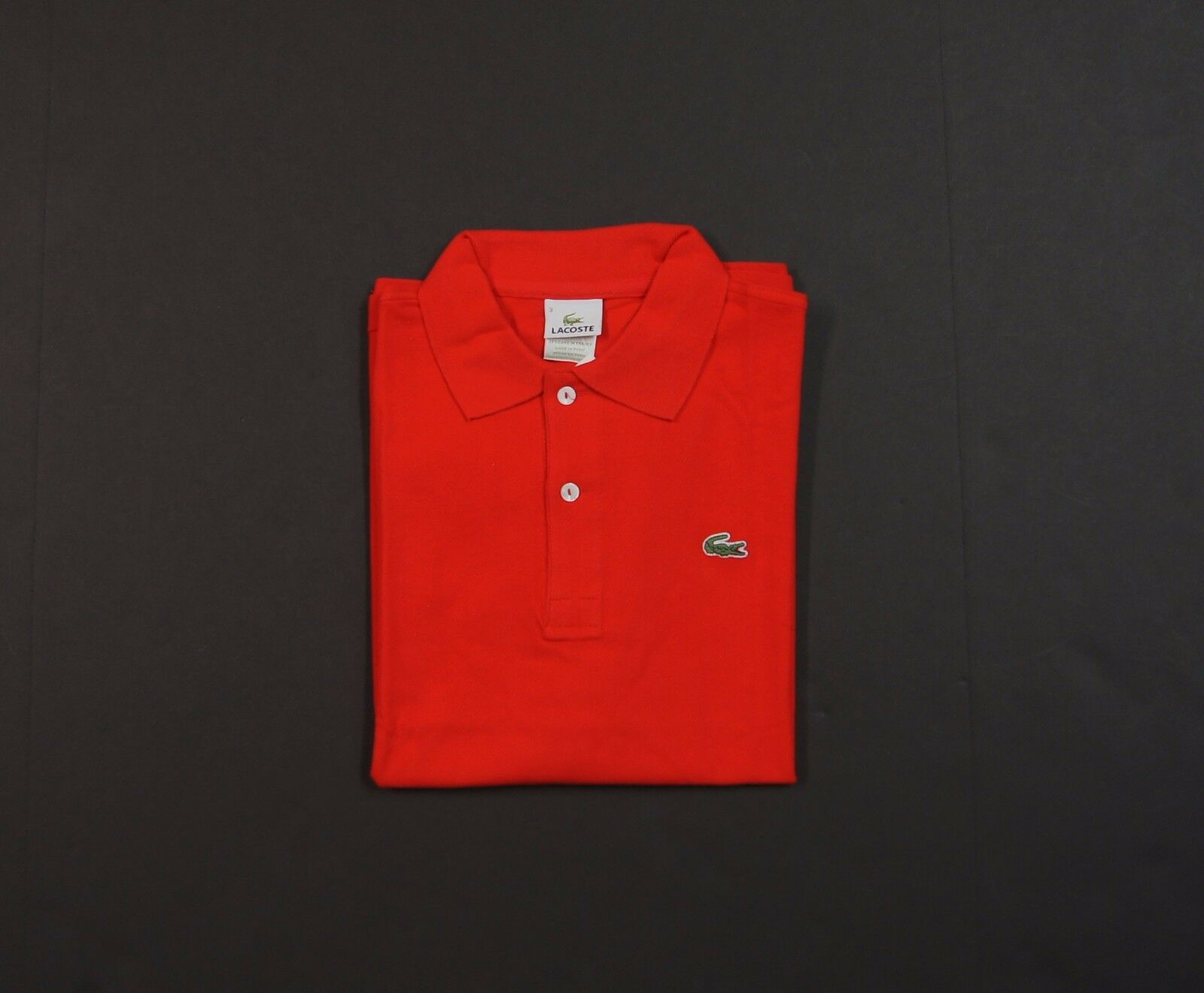 LACOSTE Men Classic Logo Short Sleeve Polo Shirts in Red NEW NWT