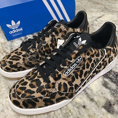 New Men's Adidas Continental 80 Black White Leopard Print Shoe F33994 Size  13 | eBay