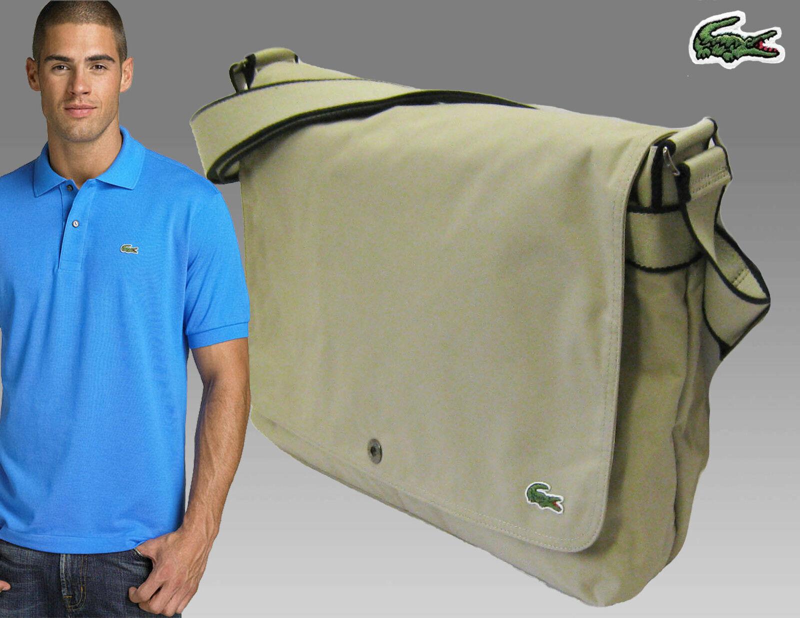 Taschen Lacoste Messenger Unisex Schultertasche Neu Freizeit City 7 Schwarz Original Herren-accessoires