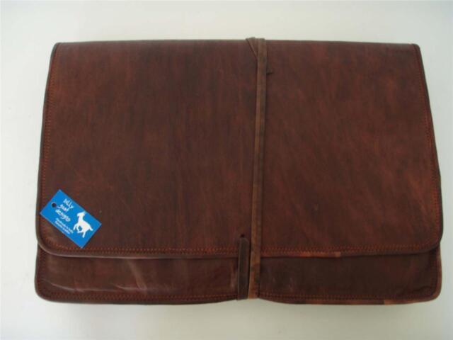 "Handmade Goat Leather 15"" Laptop MacBook Sleeve LS15 Holder Billy Goat Designs"