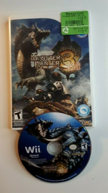 ☆FAST FREE SHIP☆ Monster Hunter 3 Tri Nintendo Wii Game