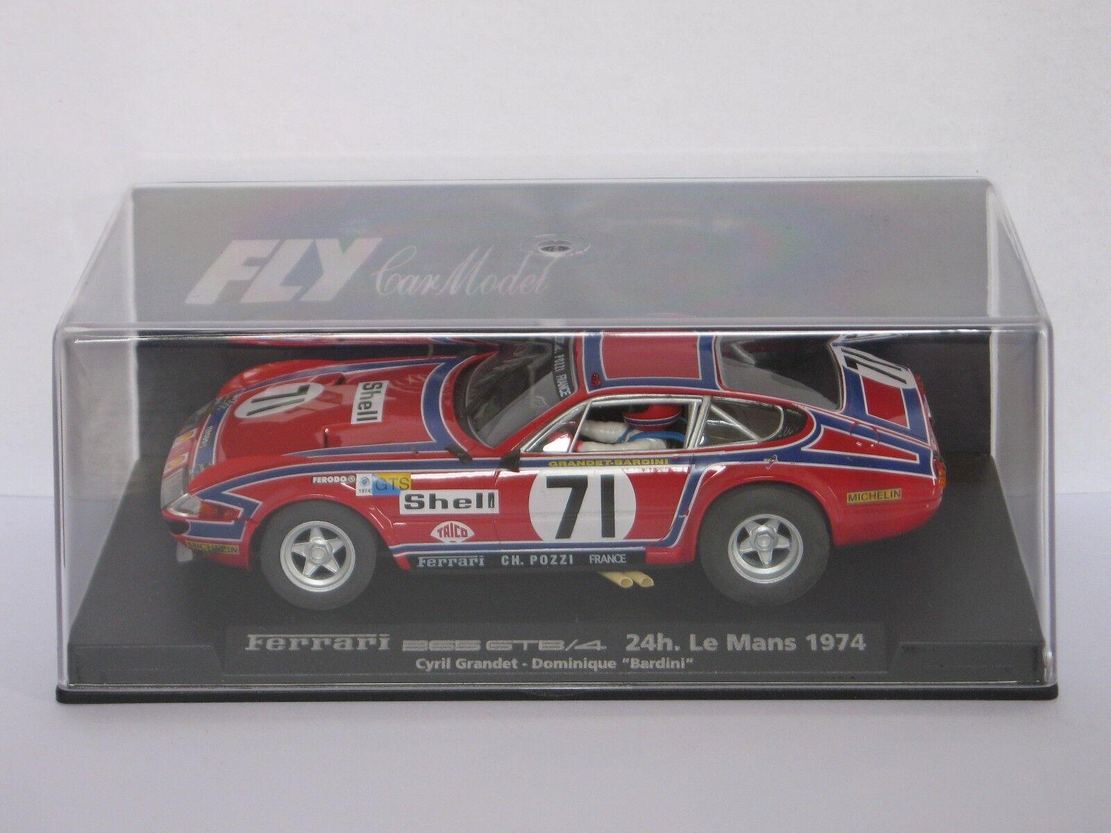 Fly Coche Ferrari 365 GTB 4 24h. le Mans 1974  71 - refs. A651 y 88077