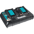 Makita DC18RD Dual-Port Lithium-Ion Battery Charger - Black