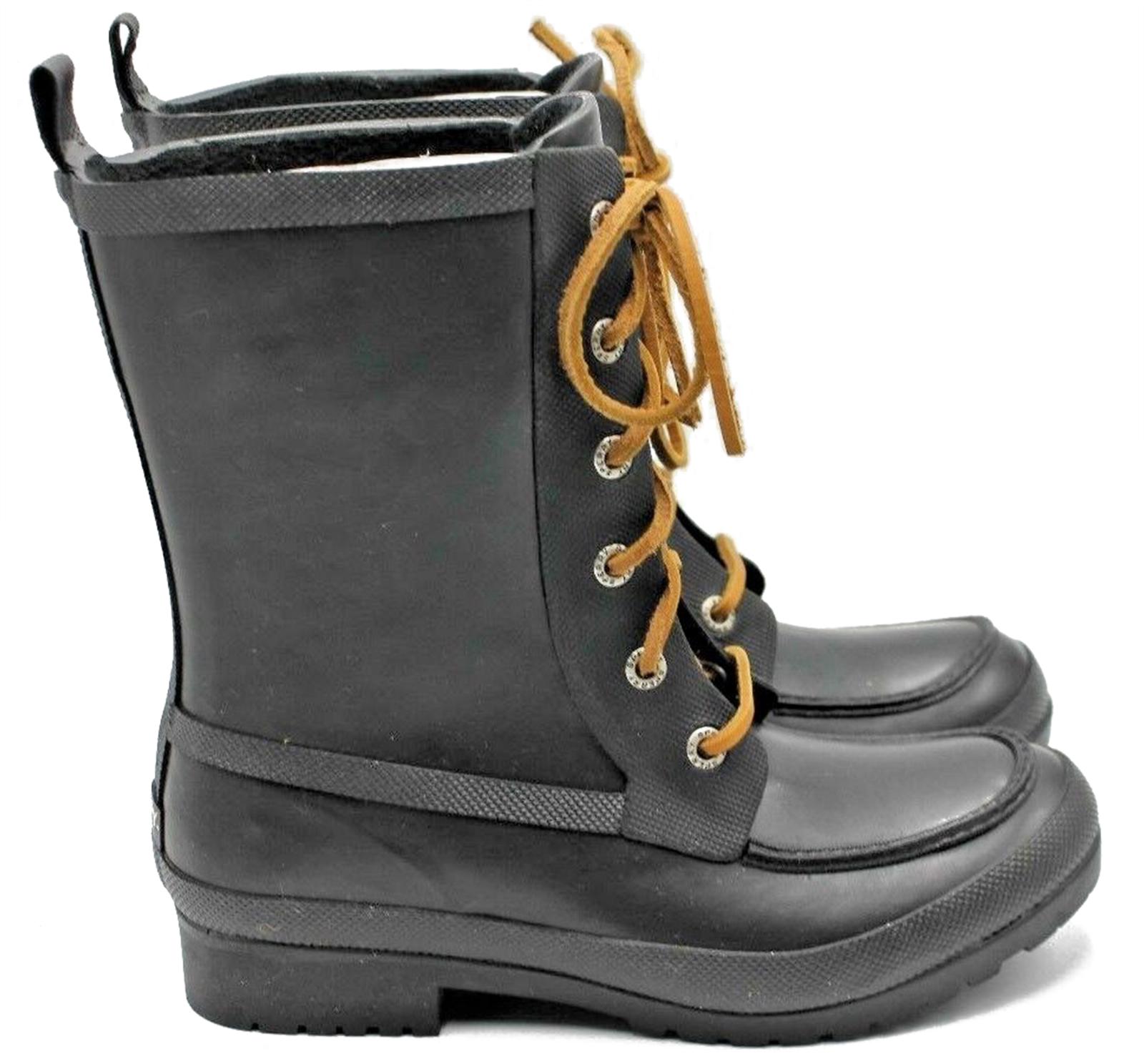 SPERRY Top-Sider Walker Women's Women's Women's Waterproof Rubber Boots Wisp Black Size 7 - NEW 6f0046