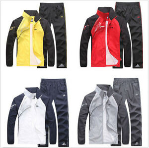 Spring Women//Men Activewear Jogging Suits Jacket Pants tracksuit Sports Coat 2pc