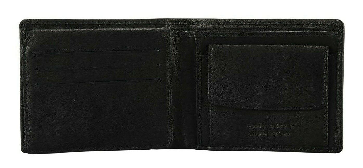 Designer Men's Leather Wallet RFID SAFE Contactless Card Blocking ID Protection