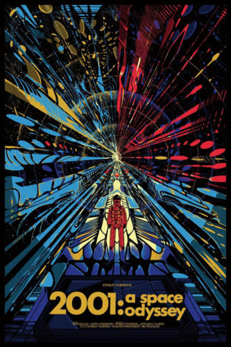 N-191 Classic Movie 2001 A Space Odyssey Fabric POSTER 20x30 24x36