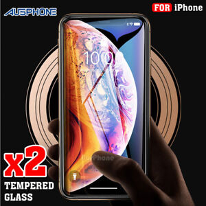 2x-Scratch-Resist-Tempered-Glass-Screen-Protector-Film-Guard-Apple-iPhone-X-XS