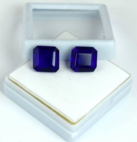 Lose Edelsteinpaar 11-13 Karat Octagon Blue Tanzanite Natural AGI zertifiziert