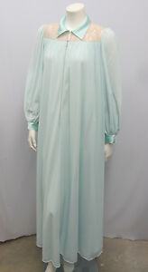 VINTAGE CLAIRE SANDRA BY LUCIE ANN NIGHTGOWN HOSTESS DRESS BLUE WITH ... 3fc798b21