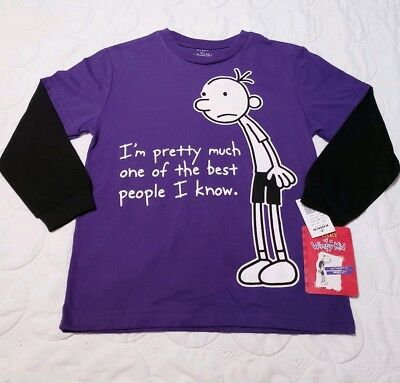 DIARY OF A WIMPY KID MEDIUM KIDS LONGSLEEVE T-SHIRTS BRAND NEW