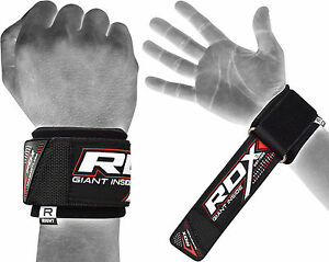 RDX-Lifting-Straps-WEIGHT-RUBBER-WRIST-WRAPS-SUPPORT-GYM-STRENGTH-TRAINING-AU
