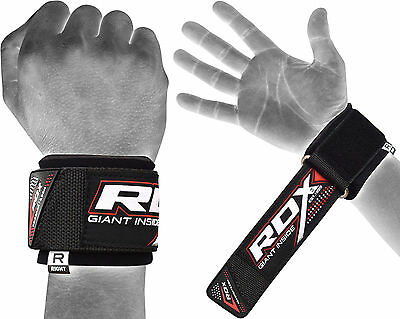 RDX Wrist Brace Grip Support Gym Gloves Straps Weight Lifting Wrap Building AU