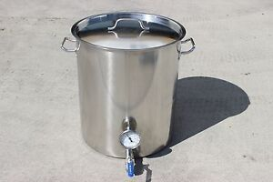 CONCORD-Home-Brew-Kettle-Welded-Stainless-Steel-Stock-Pot-w-2-Couplers-FULL-SET